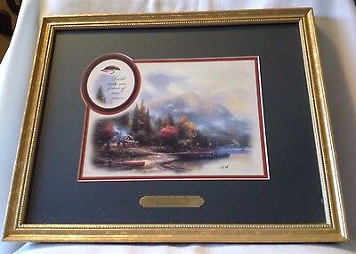 Thomas Kinkade End of a Perfect Day Framed Matted Print Certificate