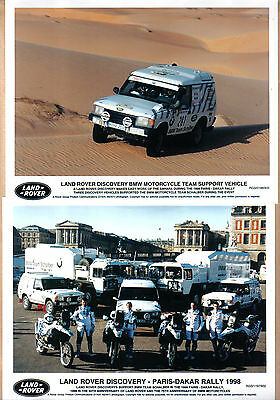 Land Rover Discovery BMW M/Cycle Team Support Vehicles x 2 original Press Photos