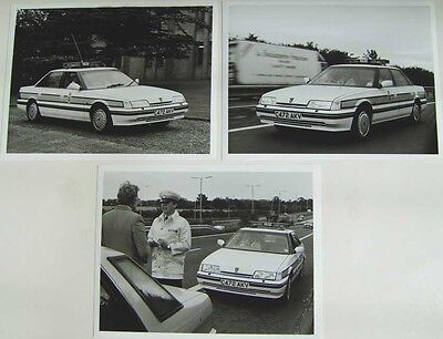Rover 800 Series Police Car x 3 original b/w Press Photographs Reg C472 AKV