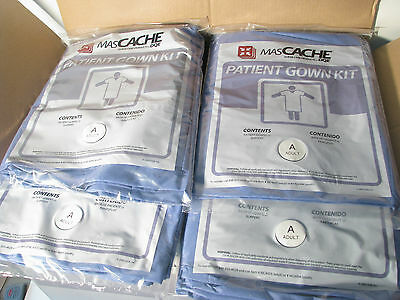25 MasCache Disposable Patient Gown Kits, 2 Gown, 1 Pair Slippers #MC4003 Adult