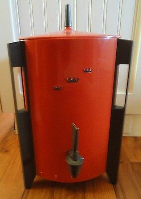 Tomato Red Mid Century REGAL Poly Perk COFFEE MAKER URN 10-30 Cup Tripod  Legs