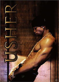 USHER ~ LEANING 22x34 MUSIC POSTER Super Hot NEW/ROLLED!