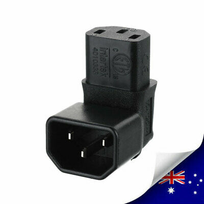 1 x IEC320 C14 To C13 Right Angle 90 Degree AC Power Adapter Extension N109
