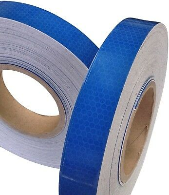 New High Intensity Reflective Tape Vinyl Blue 25mm x 2.5m Exterior Decal Sticker