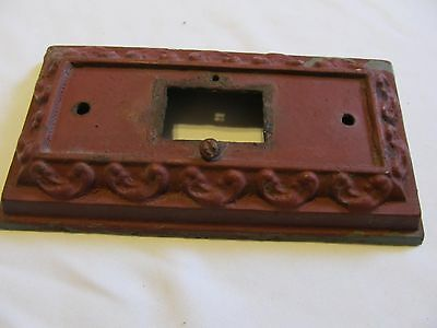 Original VTG  Architectural Salvage Wall Lamp Back Plate 4 3/8 by 8 7/16  Heavy