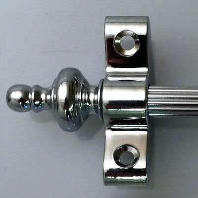 Polished Chrome 3/8 Inch Reed Stair Carpet Rod Urn Finial (R03Reu)