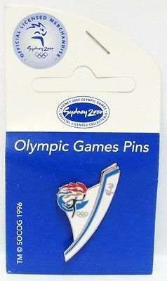 Torch Relay Logo Flames Sydney Olympic Games 2000 Pin Badge Collect #356