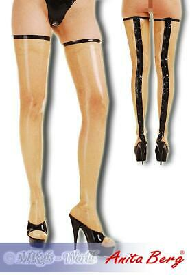 Anita Berg - Latex Zip-Overknees schwarz-transparent