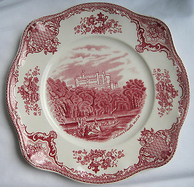 Johnson Brothers Bros Old Britain Castles Pink Square Salad Plate