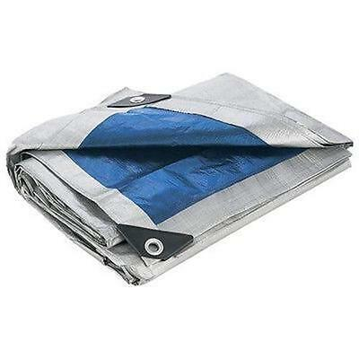 Blue Silver All Purpose Water Resistant Tarp Tarps Heavy Duty Reinforced Corner