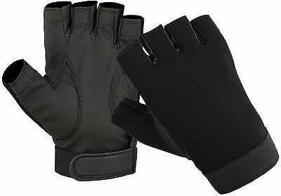 1/2 Half-Finger Tactical Neoprene Police Duty Search Shooting Fingerless Gloves