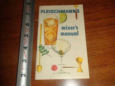 BW045 Vintage Fleischmann's Drink Mixer Manual