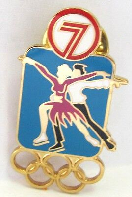Channel 7 Figure Skating Gold Sydney Olympic Games 2000 Pin Badge Collect #372