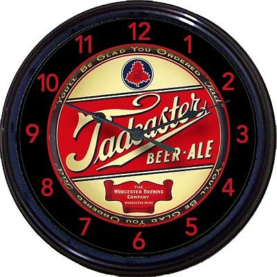 """TADCASTER BEER ALE WORCESTER BREWING CO """"BEER TRAY"""" CLOCK WORCESTER MA LAGER NEW"""