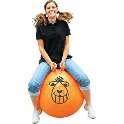 BIG 60cm Retro Adult Or Childs Orange Space Hopper & Foot Pump Toy Set 08826