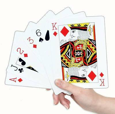 Large Jumbo 17cm x12cm Deck Pack Of Plastic Playing Cards S03 502