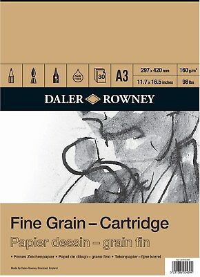Daler Rowney Fine Grain Cartridge Pad - 160gsm 30 sheets - A3