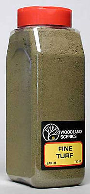 NEW Woodland Scenics Turf Fine Earth 32 oz T1342