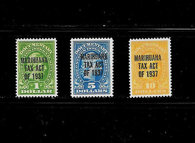 Reproduction of 1937 Marijuana Tax Stamps RJM1 - RJM3  *Fake 017