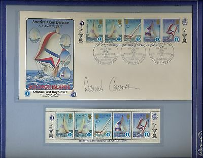 America's Cup yacht race 1987 Solomon Islands stamps & cover in special album