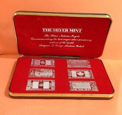 1973 The Silver Mint The Silver Nations Ingots Set  SILVER SET 120 Gram