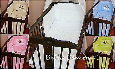 Nursery bumper approx 130cm long/ Paded/ to fit Swinging Crib/Cradle