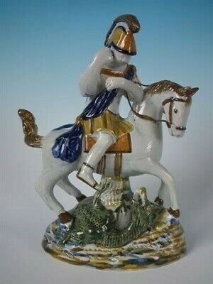Staffordshire Prattware Saint George & Dragon