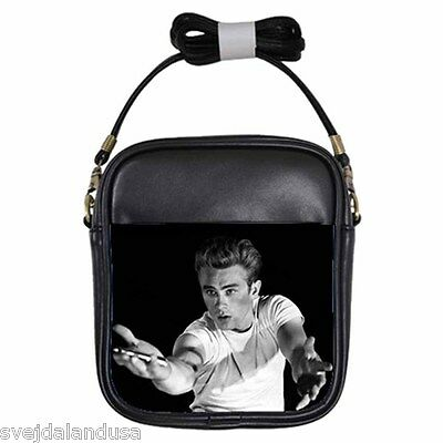 JAMES DEAN REBEL WITHOUT A CAUSE Leather Sling Bag Small Purse