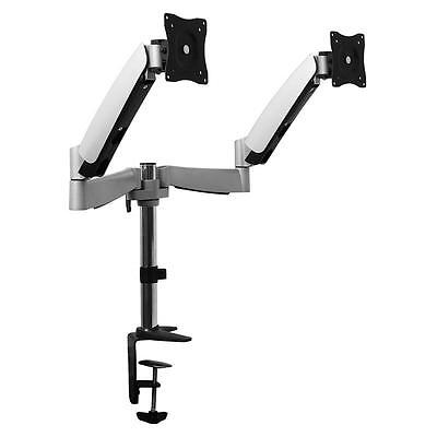 Twin Screen Monitor Desk Mount Pc Lcd Tv Table Clamp *free P&p Special Offer