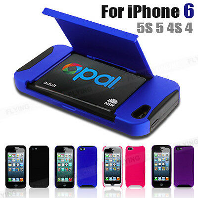 Card Case For iPhone 6 Credit Opal Card Train Ticket Holder Apple 5S 5 4S 4