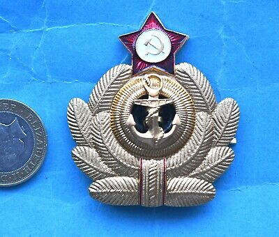 Russian Navy Officers Full Sized Cap Badge (Z1).