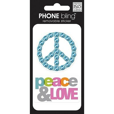PHONE BLING STICKERS-PEACE & LOVE 673807964686-FREE US SHIPPING