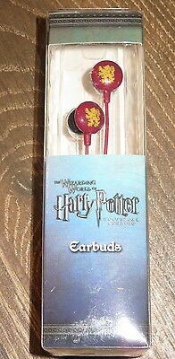 New Universal Studios Wizarding World of Harry Potter Earbuds GRYFFINDOR RED