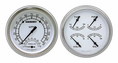 classic instruments 51-52 chevy car gauges ch51cw62 speedtachular quad