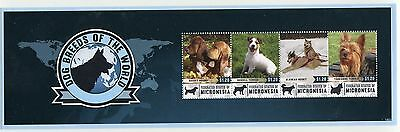 MICRONESIA STAMP 2014; DOG BREEDS OF THE WORLD SHEETLET
