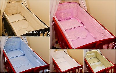 6pcs bedding set /Bumper/sheet/duvet/ to fit baby Swinging Crib 100% COTTON