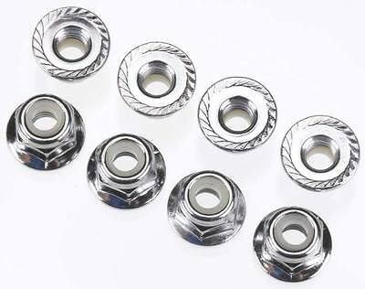 NEW Traxxas Nuts 4mm Flanged Nylon Locking Steel (8) 3647
