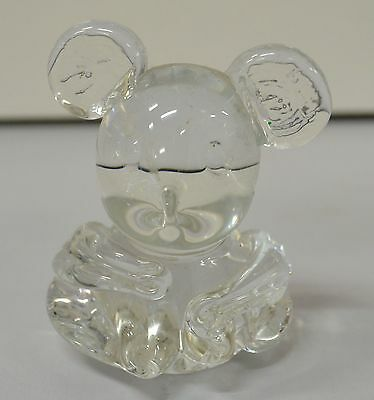 Clear Glass Koala Or Teddy Bear as Pictured (B2) 60mm W x 50mm D x 75mm High