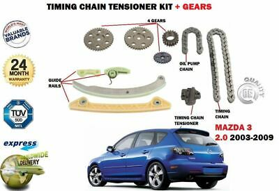 For Mazda 3 2.0 Bk 2003-2009 New Timing Cam Chain Kit Complete Oe