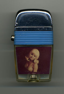 Vintage Scripto VU Cigarette Lighter Blonde Pin Up Girl Unused Very Nice!