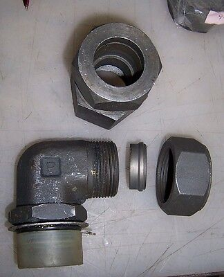 """2 Parker Hydraulic Compression Fittings 1.25"""""""