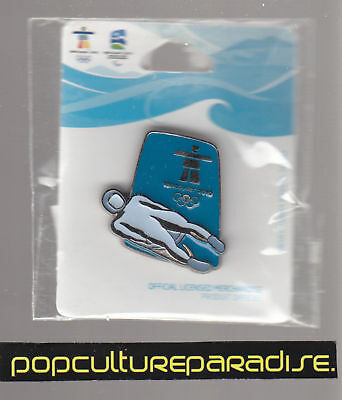 2010 VANCOUVER WINTER OLYMPICS PIN NEW Silhouette Luge