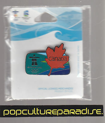 2010 VANCOUVER WINTER OLYMPICS PIN NEW ICAN Leaf Logo