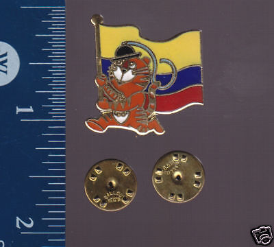 COLOMBIA FLAG 1988 Seoul Summer Olympics PIN BADGE