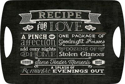 RECIPE FOR LOVE Large Luxury MELAMINE SERVING TRAY By Creative Tops