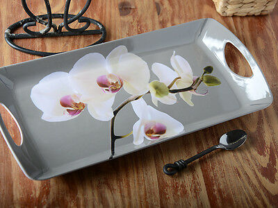 ORCHID HARMONY Small MELAMINE SERVING TRAY By Creative Tops