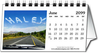 """2015 Desk Calendar """"Your Name"""" in the Images (in Photos) Personalized, Gift(I55)"""