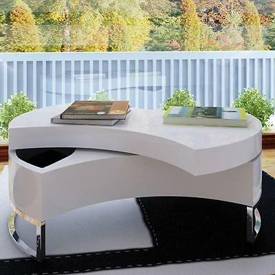 Table basse design smart laquee noir avec for Table basse blanche laquee