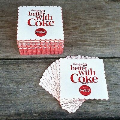 50 WHOLESALE Coaster Lot 1963 COCA-COLA Things Go Better COKE DRINK Coasters