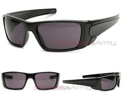 "BLACK ""Fuel Cell Sunglasses"" mens guys sports frame wrap around glasses locs"